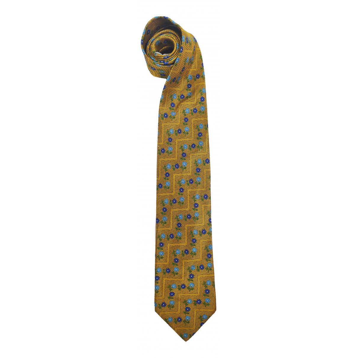 Kenzo \N Gold Silk Ties for Men \N