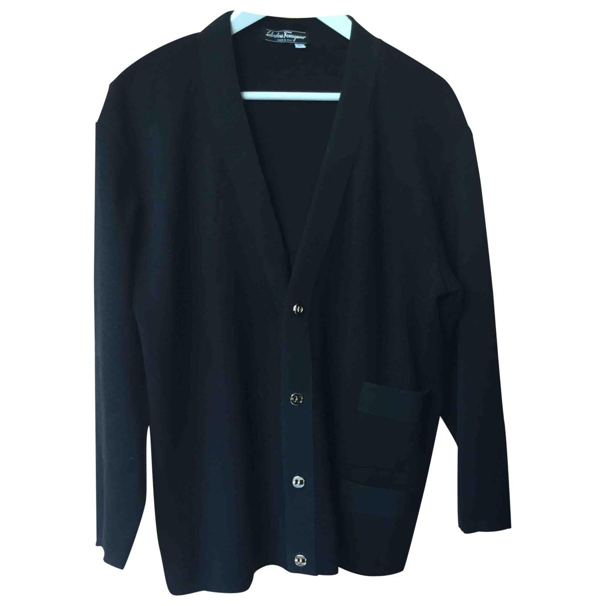 Salvatore Ferragamo - Pull   pour femme en laine - noir