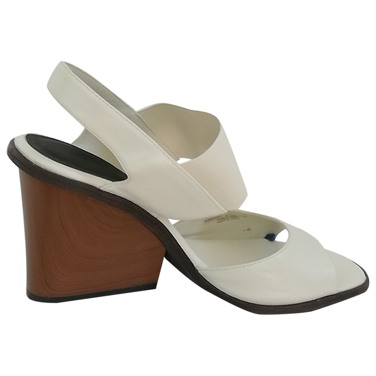 Non Signé / Unsigned \N White Leather Heels for Women 41 EU