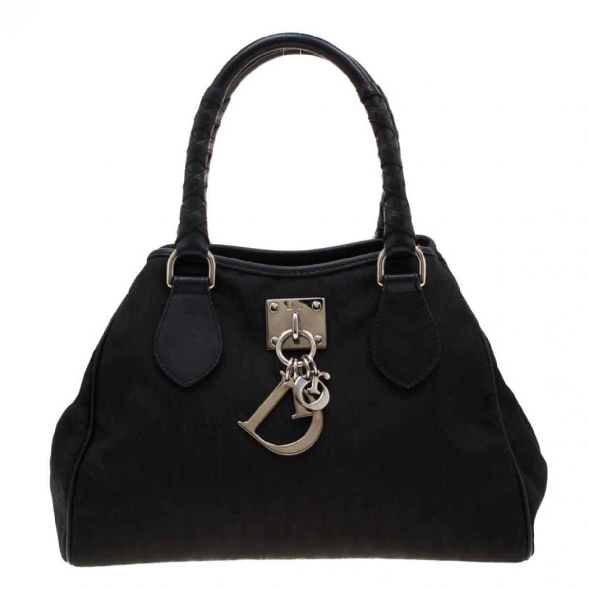 Dior - Sac a main   pour femme en toile - noir