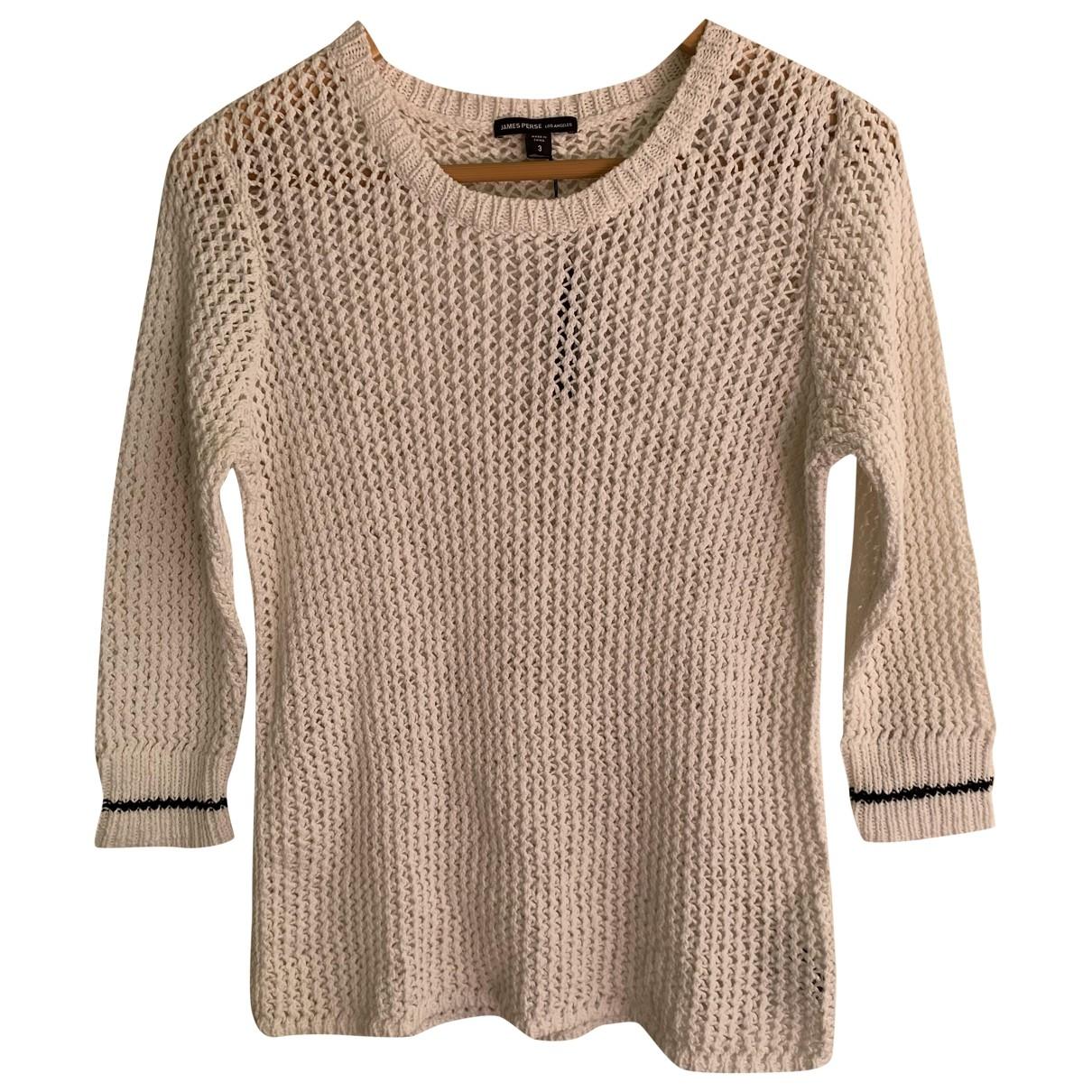 James Perse \N White Cotton Knitwear for Women 3 0-5