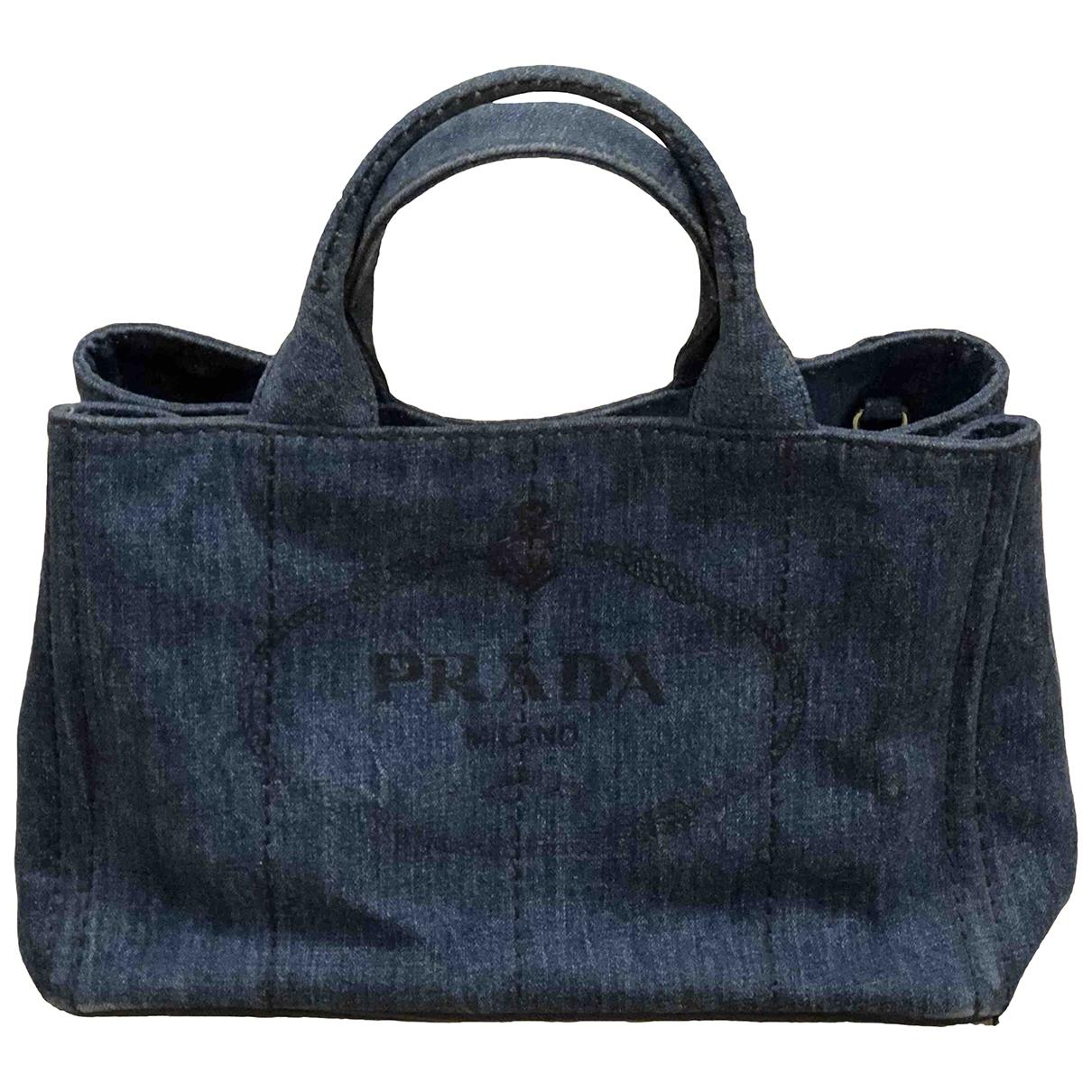Prada \N Blue Denim - Jeans handbag for Women \N