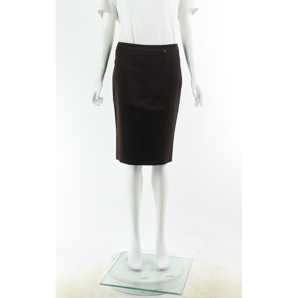 Salvatore Ferragamo \N Brown Wool skirt for Women 38 IT