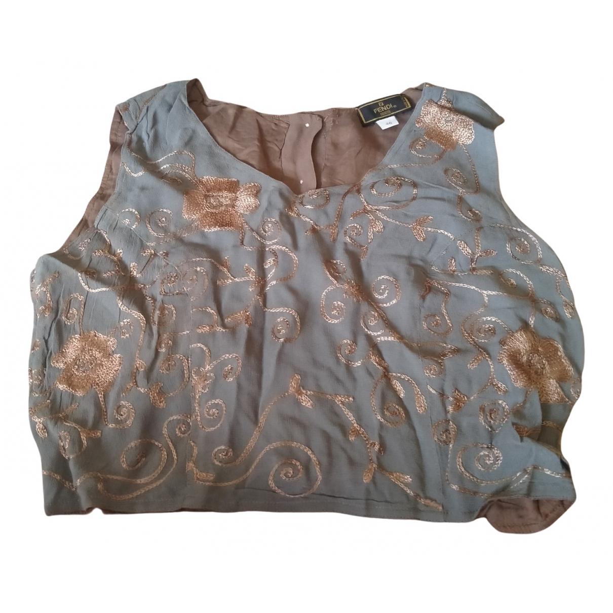 Fendi \N Grey Silk  top for Women 46 IT
