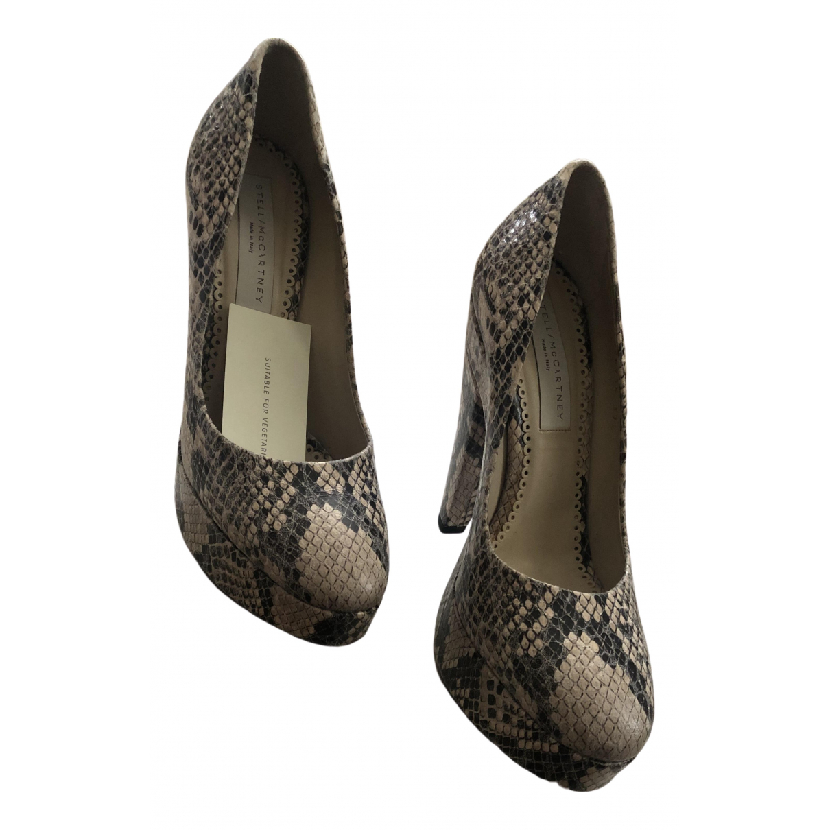 Stella Mccartney \N Beige Leather Heels for Women 4.5 UK