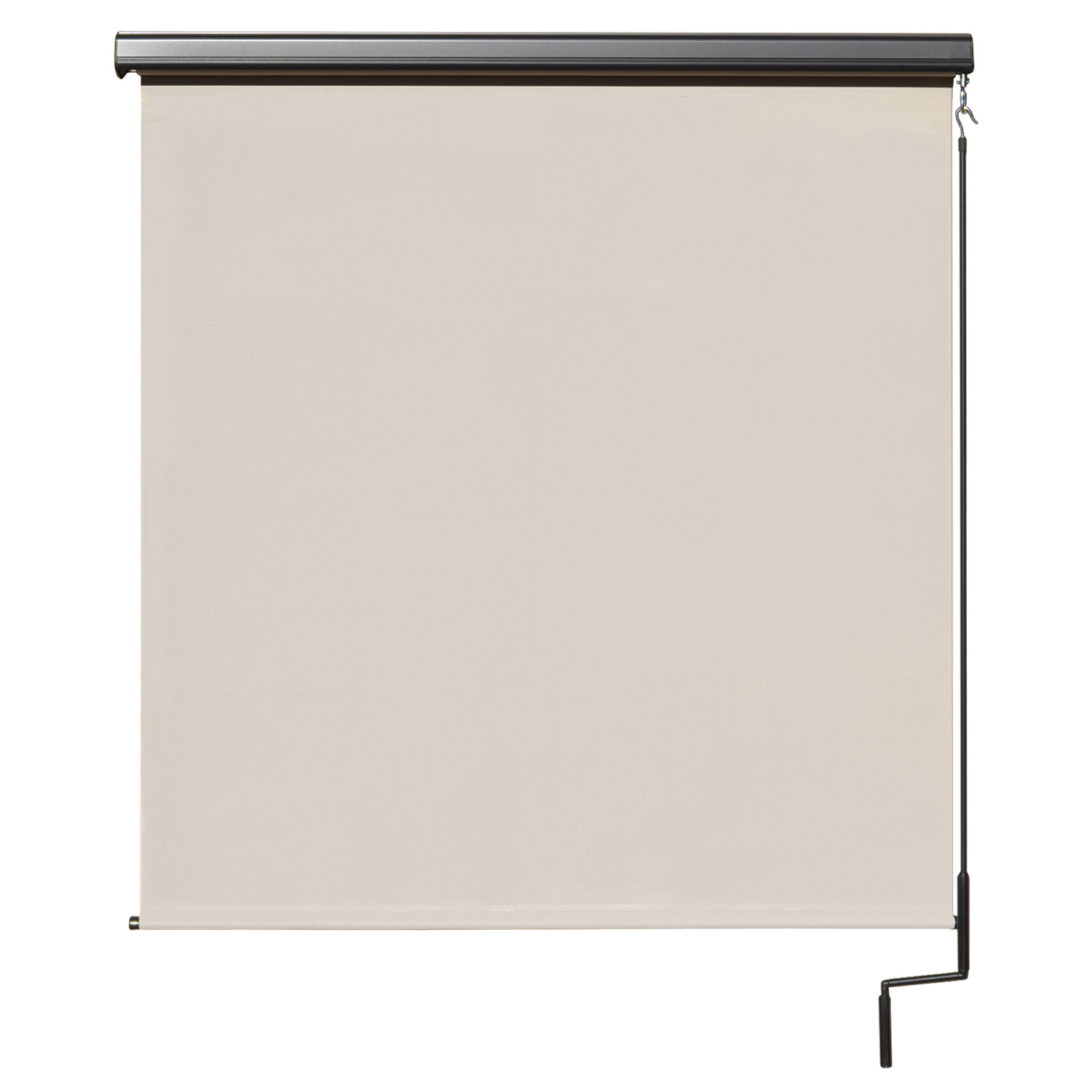 Premier Cordless Outdoor Sun Shade with Protective Valance, 10' W x 8' L, Palm