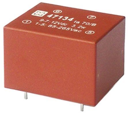 Myrra 1 Output 3.2W SMPS Transformer, 85 → 265 V ac, 85 → 370 V dc, 12V dc