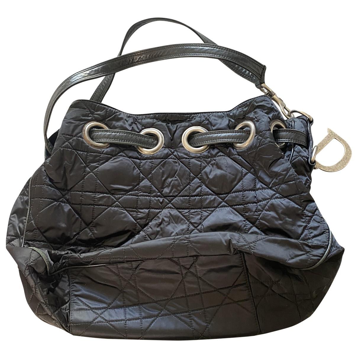 Dior \N Handtasche in  Schwarz Seide