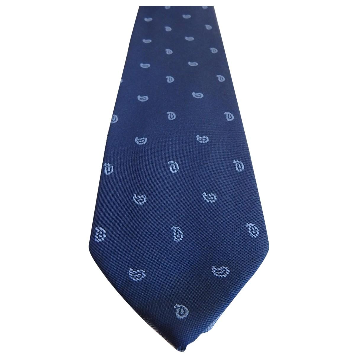 S.t. Dupont - Cravates   pour homme en soie - bleu