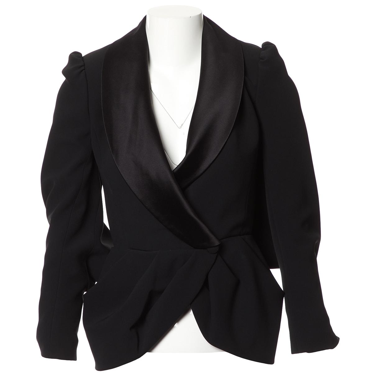 Ralph & Russo - Veste   pour femme en laine - noir