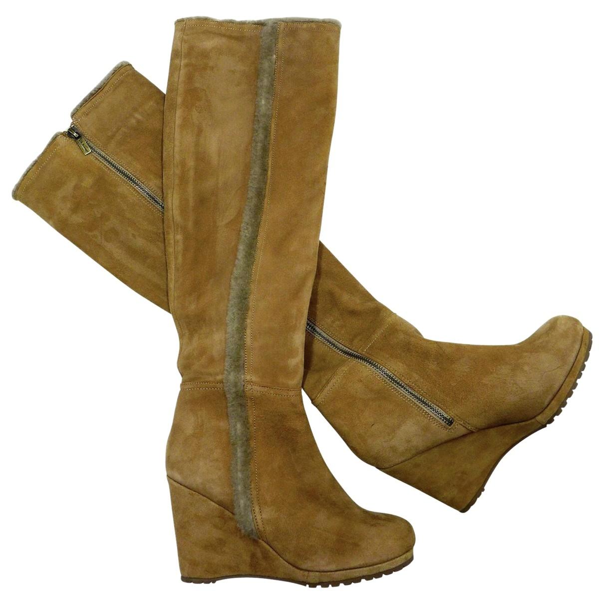 Lk Bennett \N Brown Suede Boots for Women 37 EU