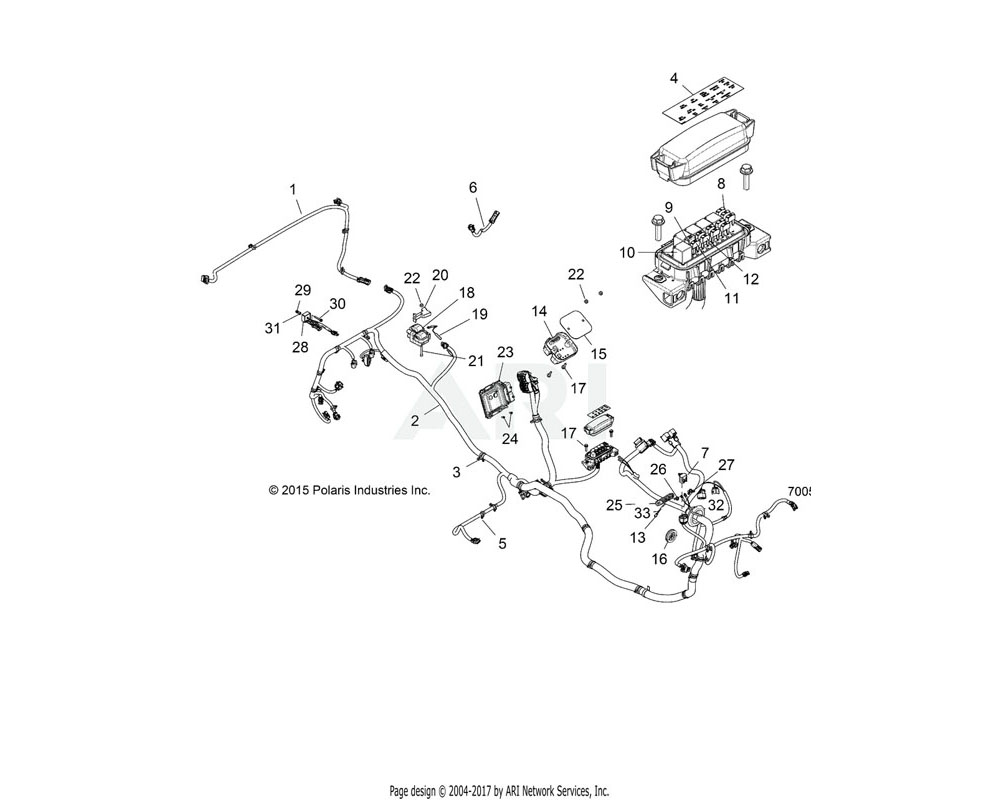 Polaris OEM 2413240 HARNESS, CHASSIS   [FM, INCL. 3-5, 7-11, 13]