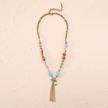 Halskette mit Quasten Dekor