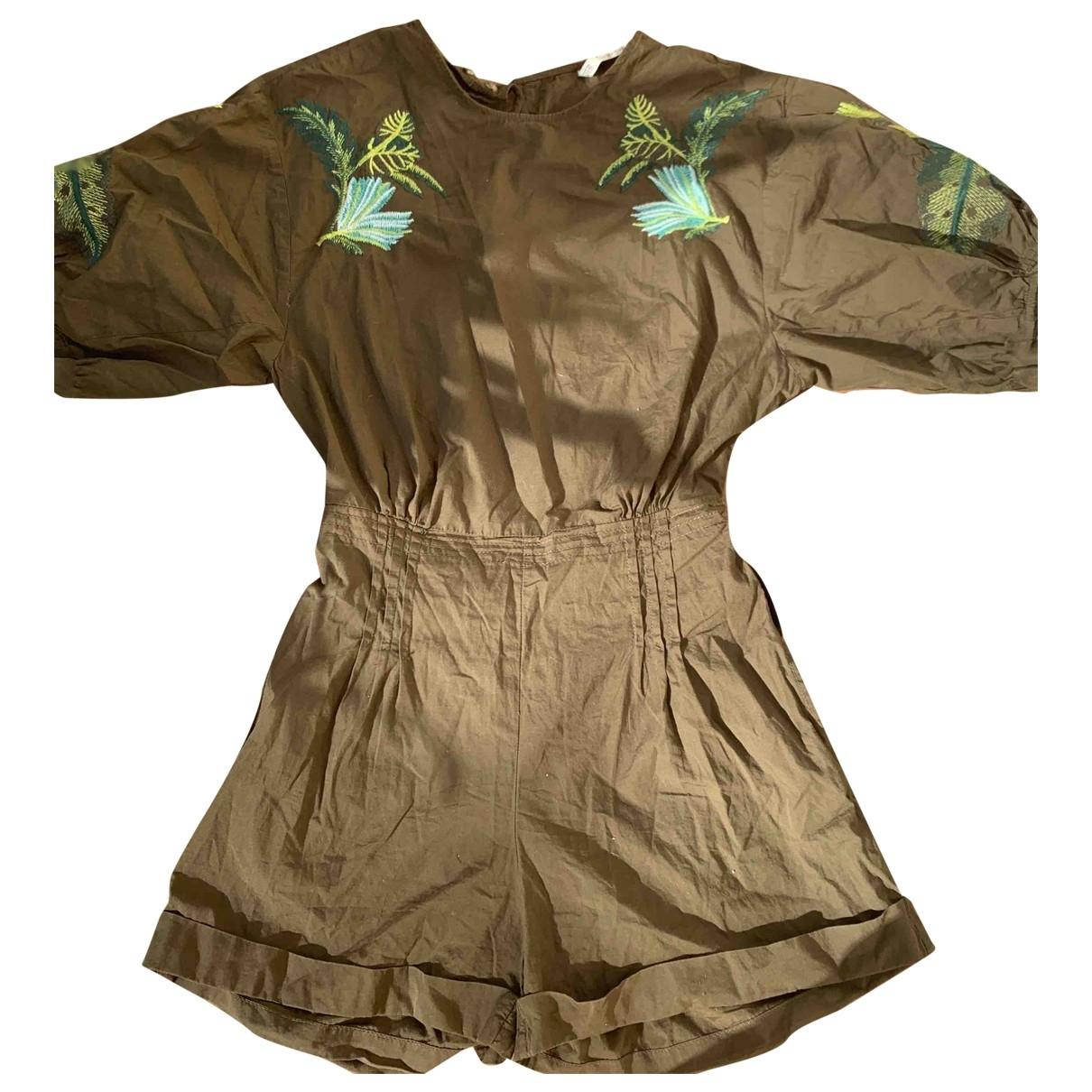 Zara - Combinaison   pour femme en coton - vert