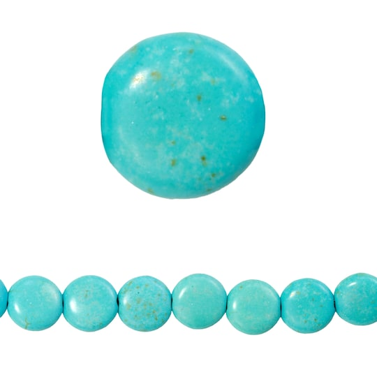 Bead Gallery® Turquoise Dyed Howlite Lentil Beads, 12Mm | Michaels®