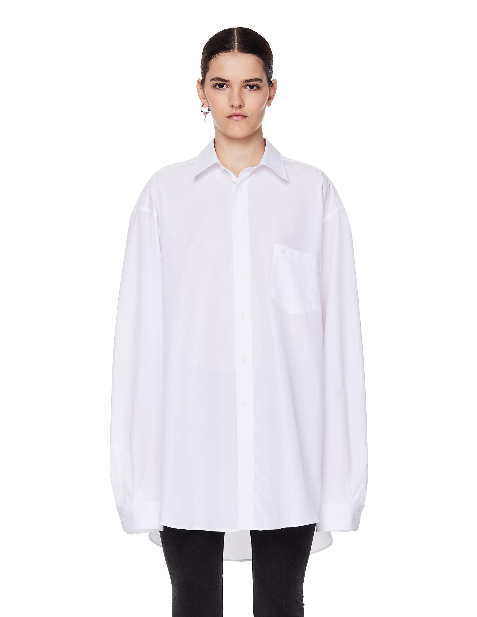 Vetements White Cotton Vetements Shirt