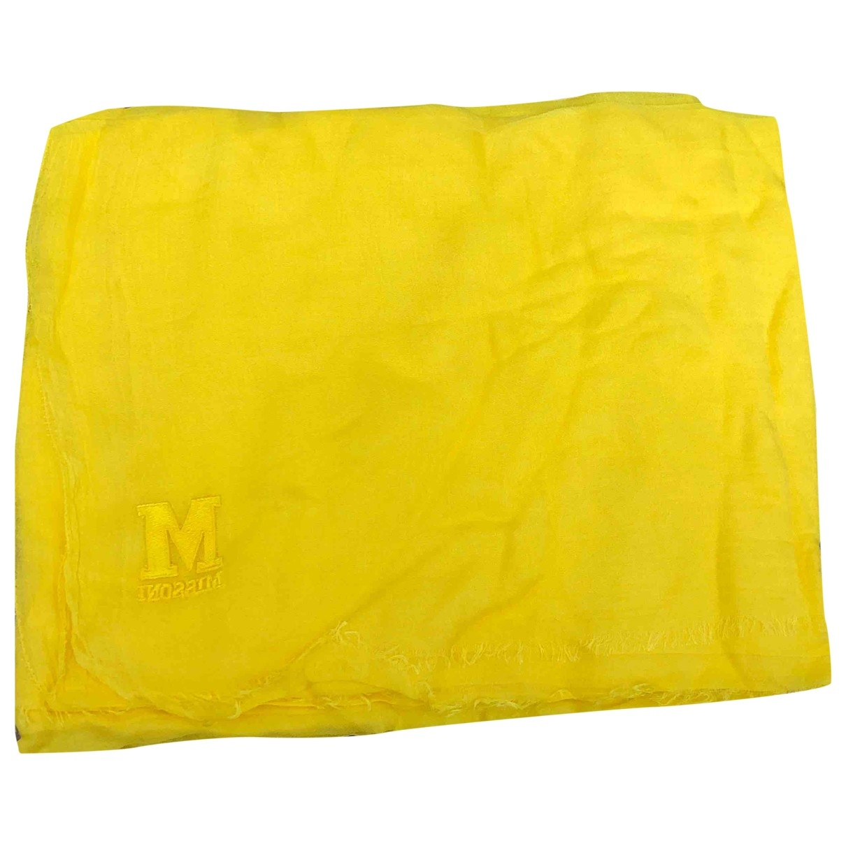 M Missoni \N Schal in  Gelb Baumwolle