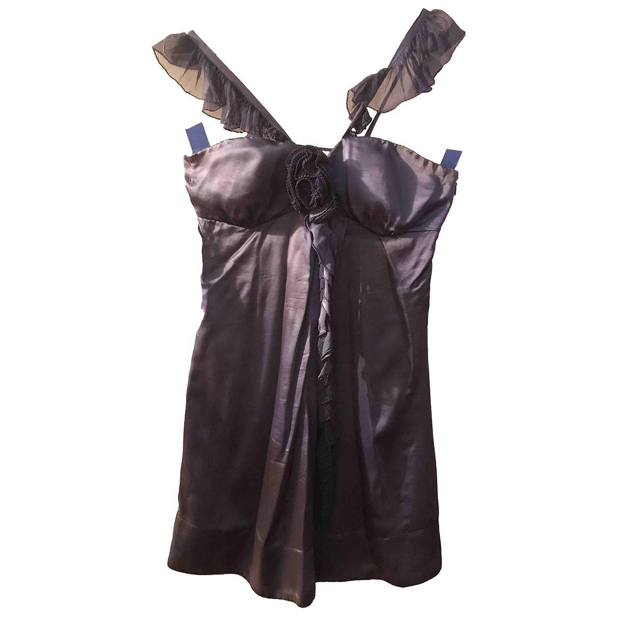 Ermanno Scervino \N Kleid in  Blau Seide