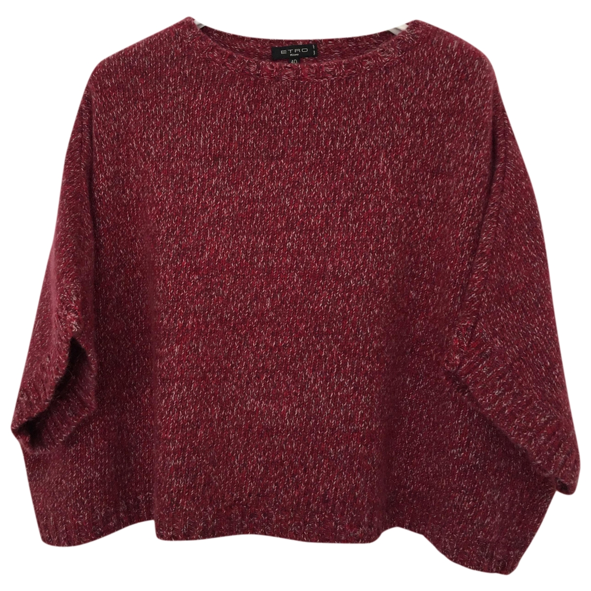 Etro \N Pullover in  Bordeauxrot Wolle