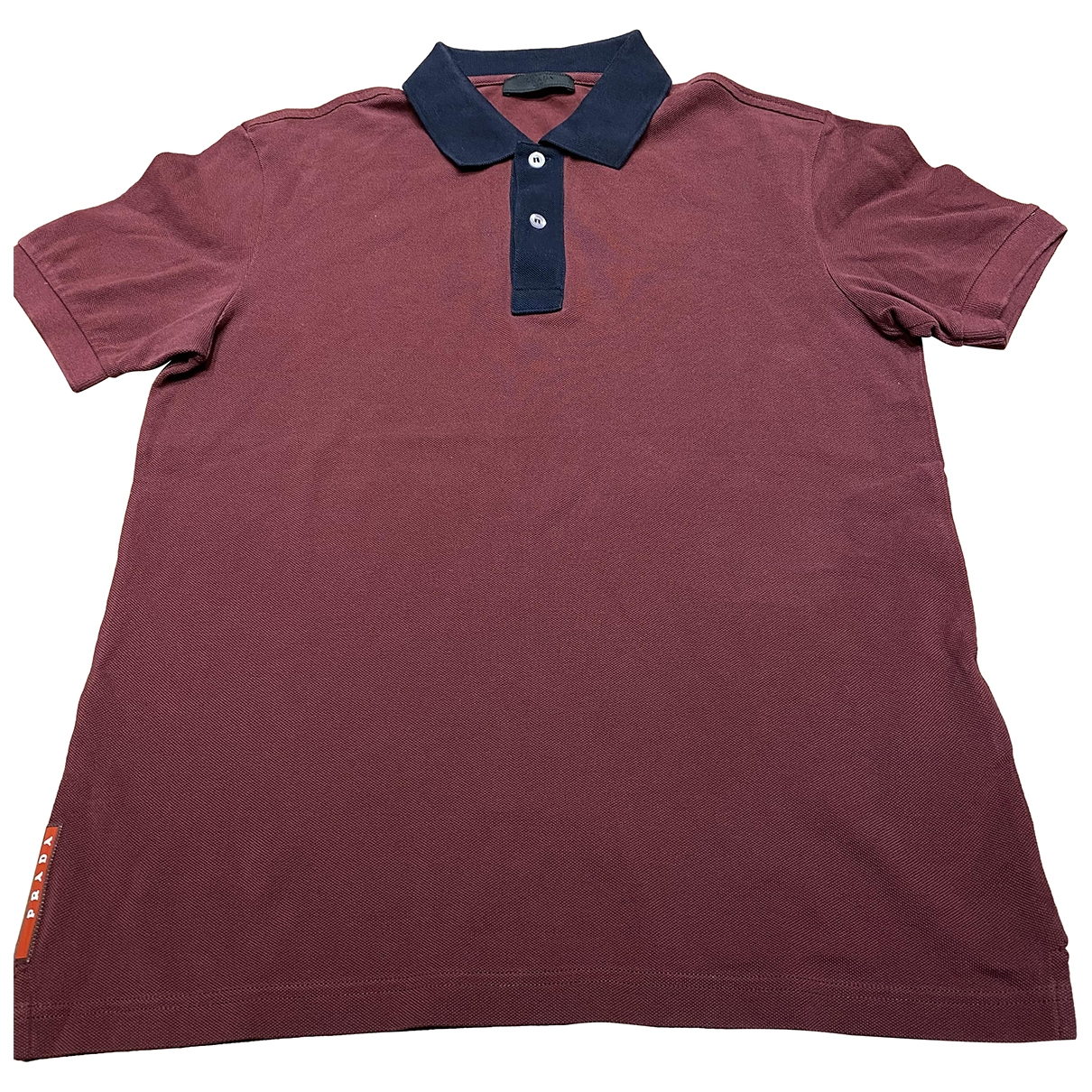 Prada \N Burgundy Cotton T-shirts for Men M International