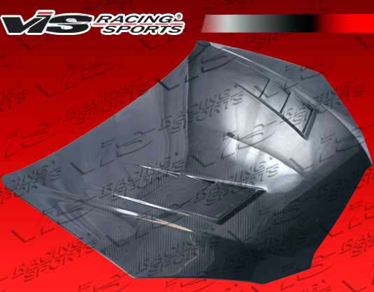VIS Racing 10HYGEN2DTM-010C Carbon Fiber Terminator Hood Hyundai Genesis 09-12