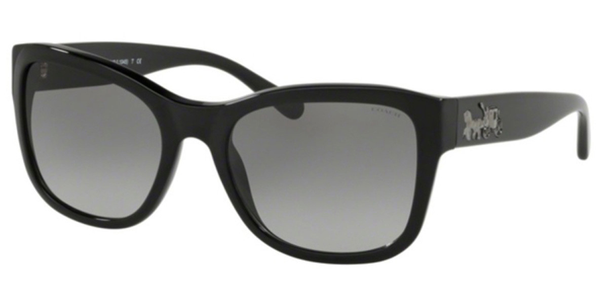 Coach HC8243 500211 Women's Sunglasses Black Size 55