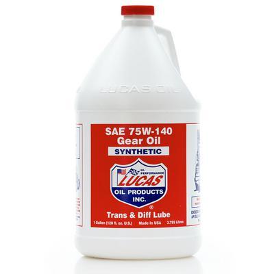 Lucas Oil Synthetic SAE 75W-140 Gear Oil - 10123