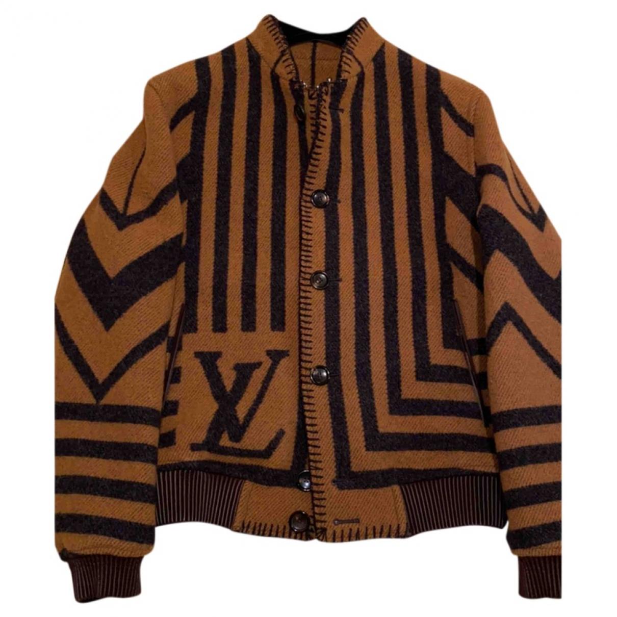 Louis Vuitton \N Jacke in  Braun Wolle