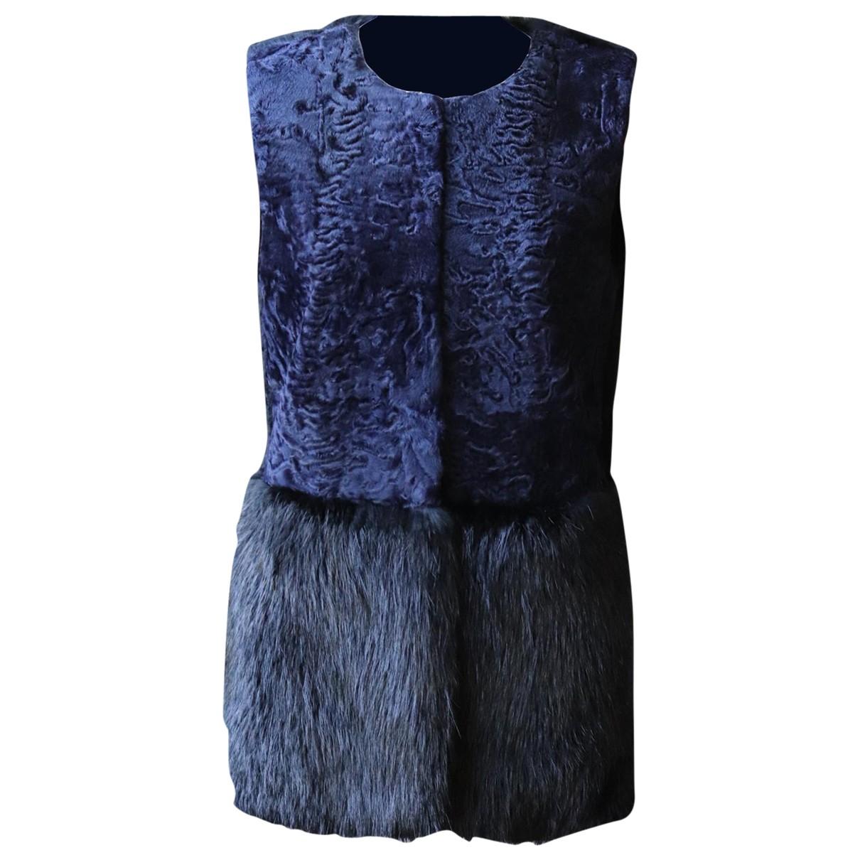 Co N Blue Fur jacket for Women XS International