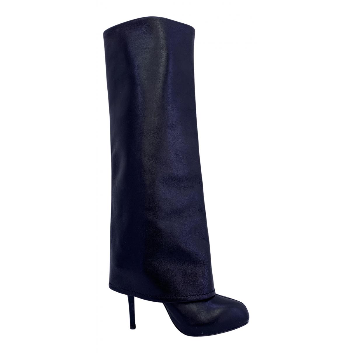 Giuseppe Zanotti - Bottes   pour femme en cuir - noir