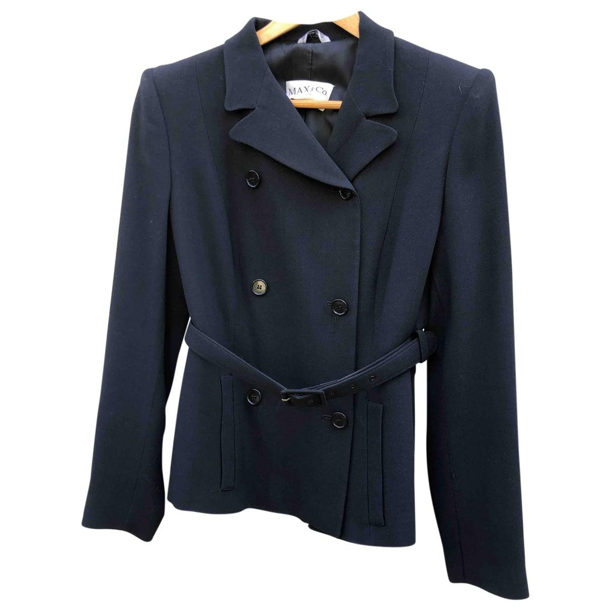 Max & Co - Veste   pour femme en laine - bleu