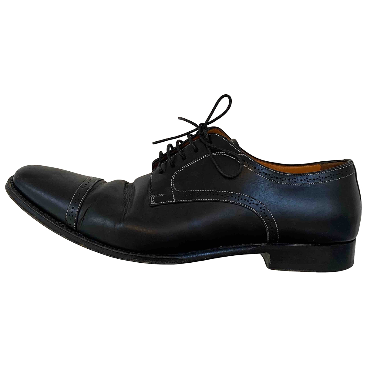 Santoni - Derbies   pour homme en cuir - noir