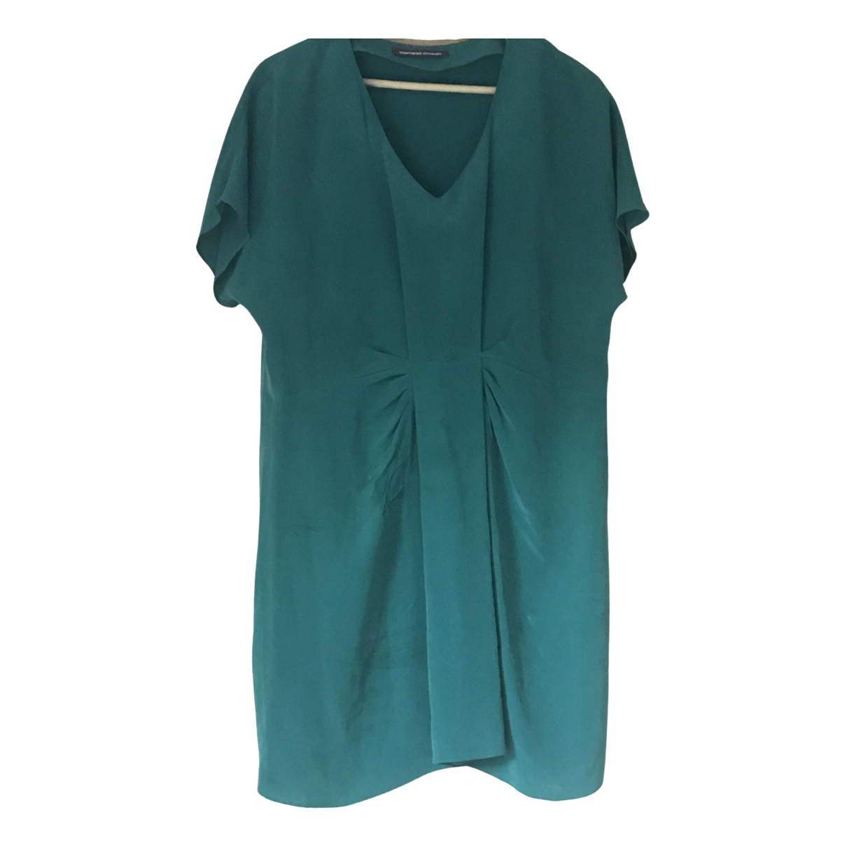 Comptoir Des Cotonniers N Green Silk dress for Women 12 UK