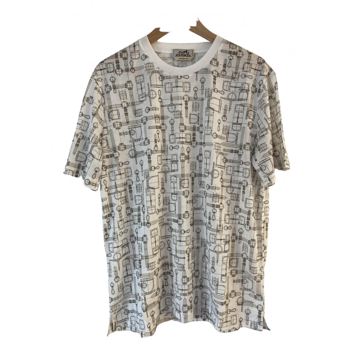 Hermes - Tee shirts   pour homme en coton - beige