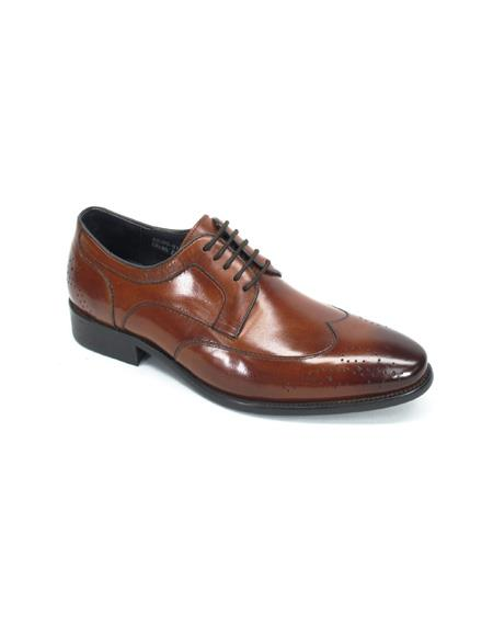 Mens Lace-Up Shoes by Carrucci - Brown