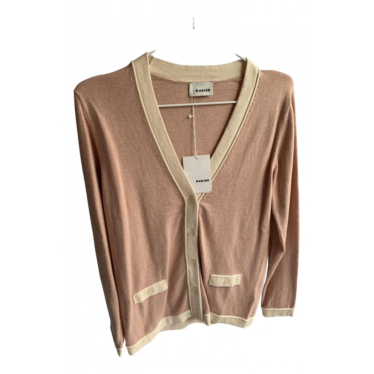 Rodier - Pull   pour femme en coton - rose
