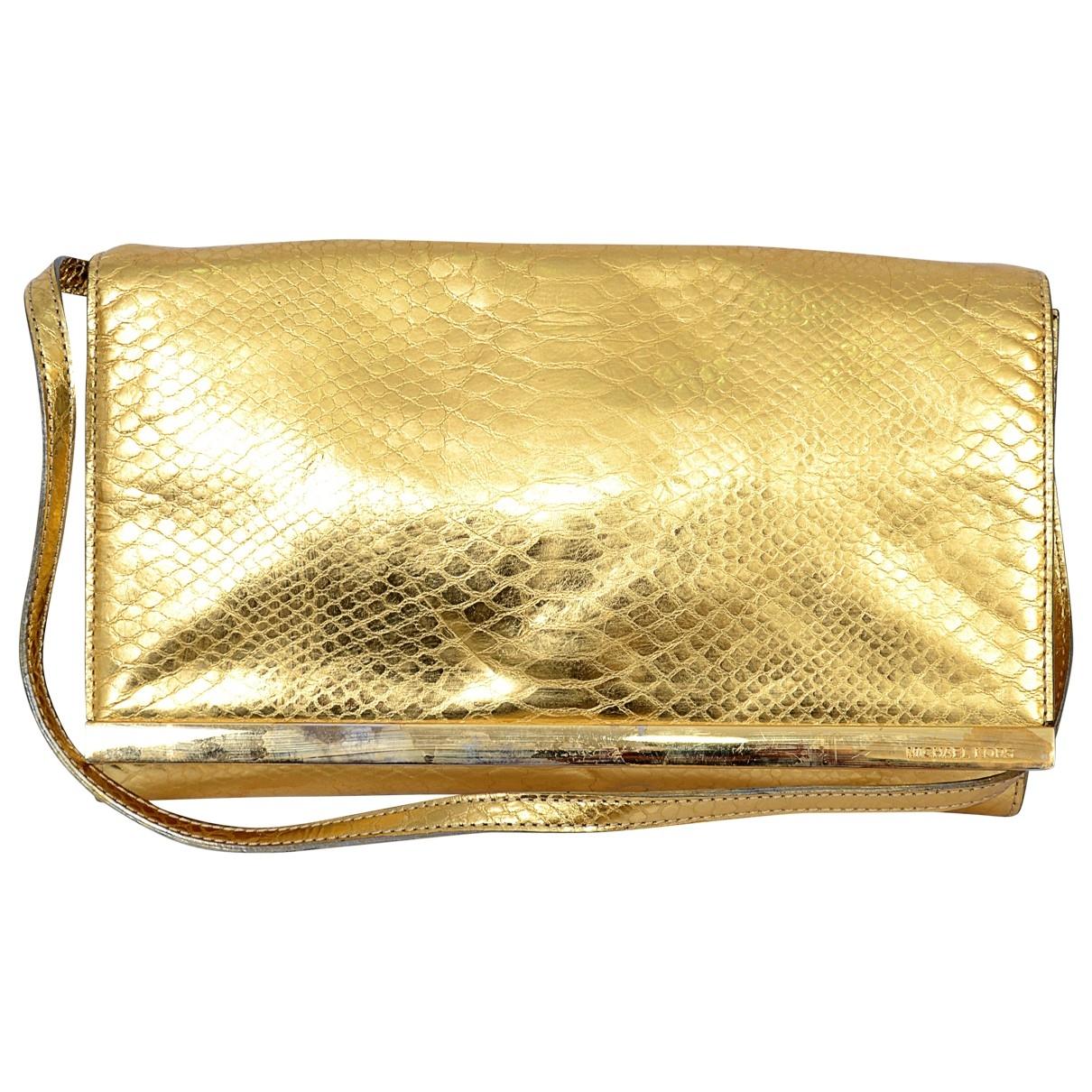 Michael Kors \N Clutch in  Gold Leder