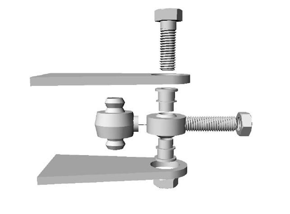 Steinjager J0040653 Inch Rod End Kit for Four Links Male Chrome Moly Housing, Nylon Race 1.25-12RH Thread x 0.625 Bore 4.000 Tab Length