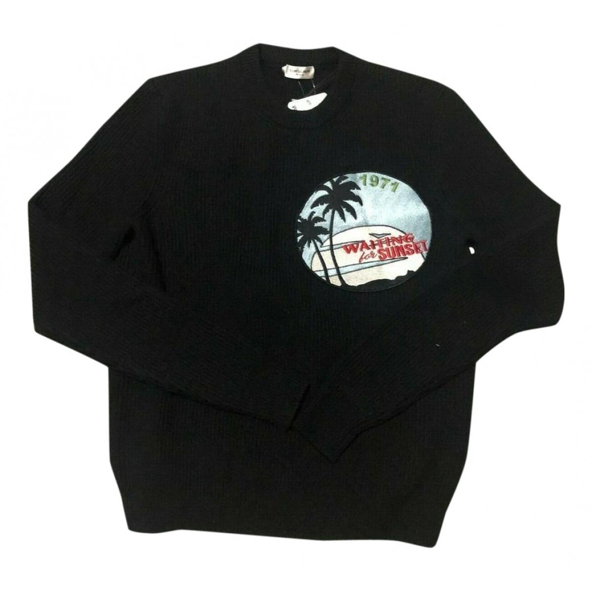 Saint Laurent \N Pullover.Westen.Sweatshirts  in  Schwarz Wolle