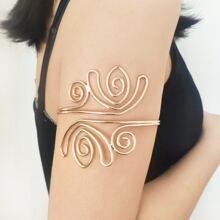 1 pieza cuff de brazo geometrico