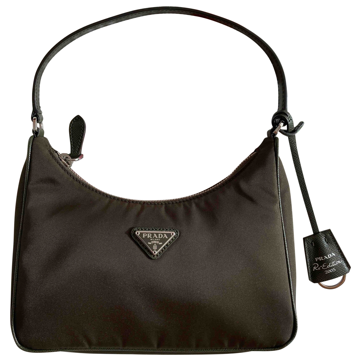 Prada Re-Nylon Khaki Cloth handbag for Women N