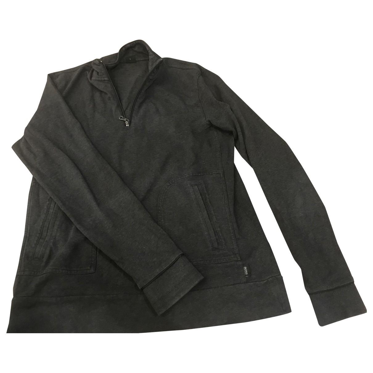 Boss \N Pullover.Westen.Sweatshirts  in  Schwarz Baumwolle