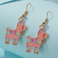 Cartoon Animal Charm Drop Earrings