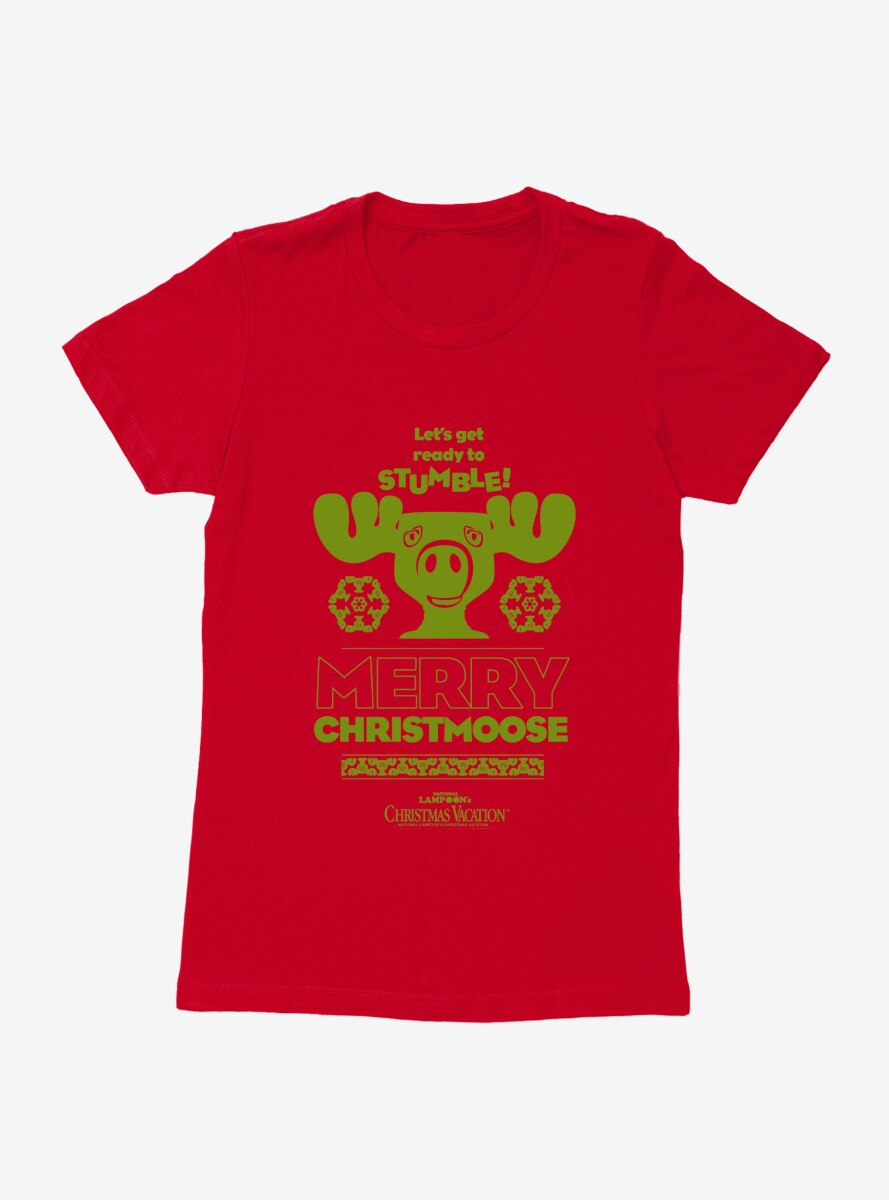 National Lampoon's Christmas Vacation Merry Christmoose Womens T-Shirt