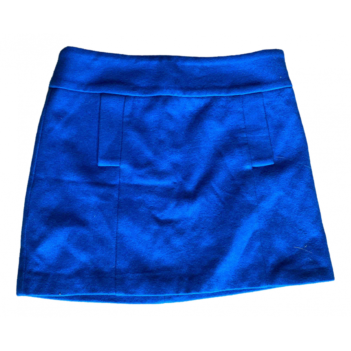 Non Signé / Unsigned \N Blue Wool skirt for Women 40 FR