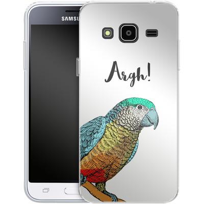 Samsung Galaxy J3 (2016) Silikon Handyhuelle - Parrot Pirate von caseable Designs
