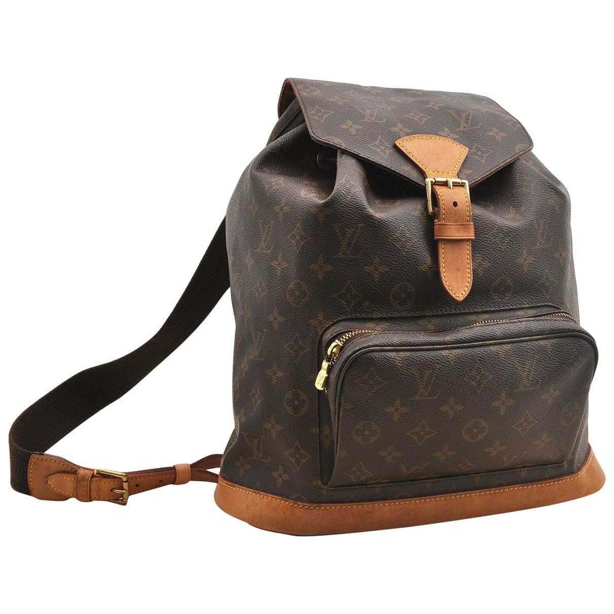 Louis Vuitton - Sac a dos   pour femme en toile - marron
