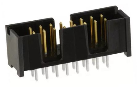 TE Connectivity , AMP-LATCH, 16 Way, 2 Row, Straight PCB Header