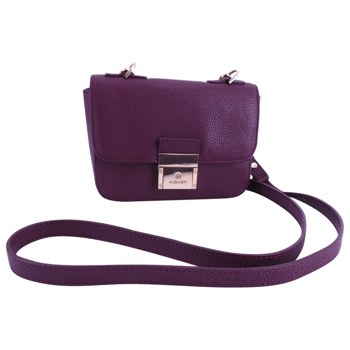 Aigner - Sac a main   pour femme en cuir - violet