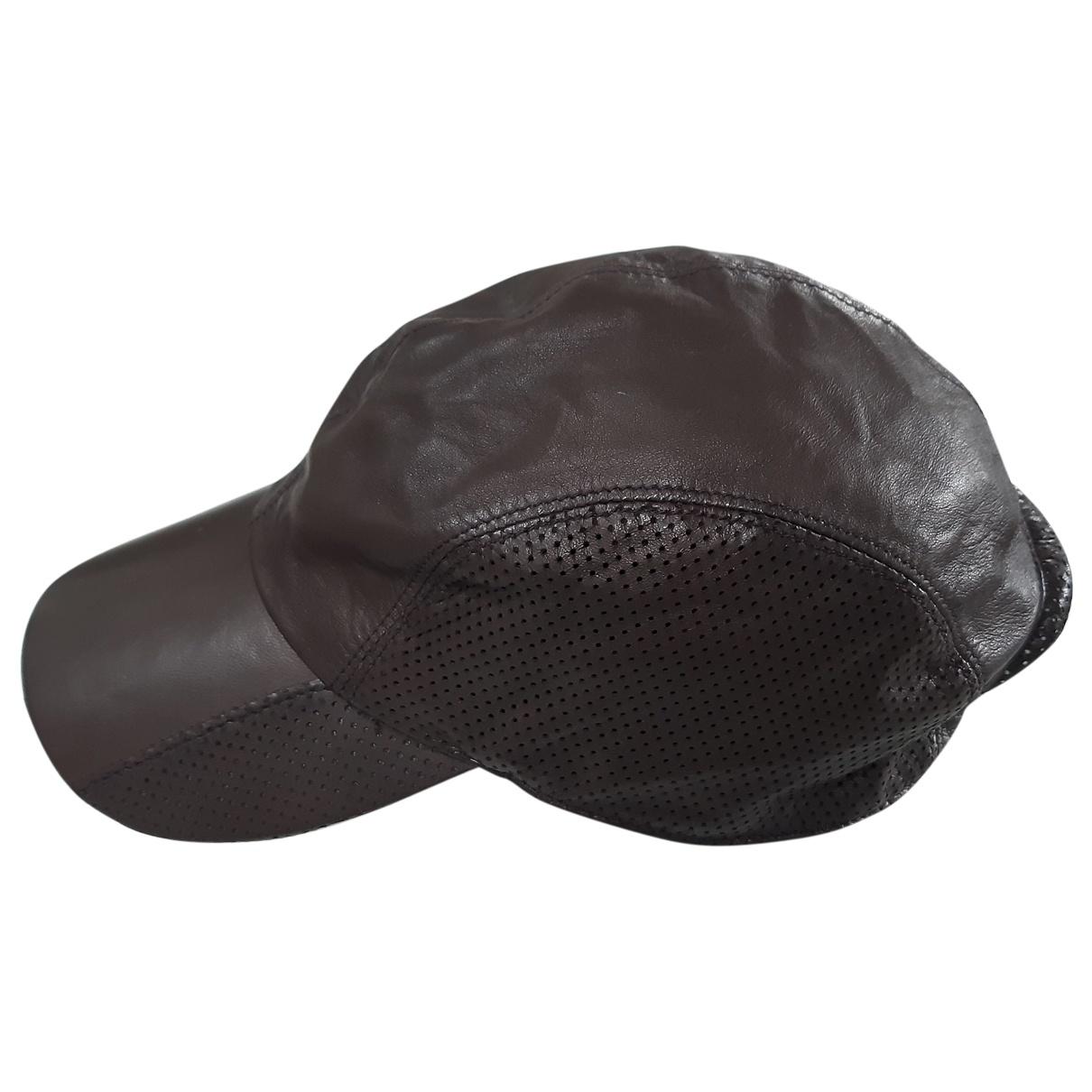 Giorgio Armani - Chapeau & Bonnets   pour homme en cuir - marron